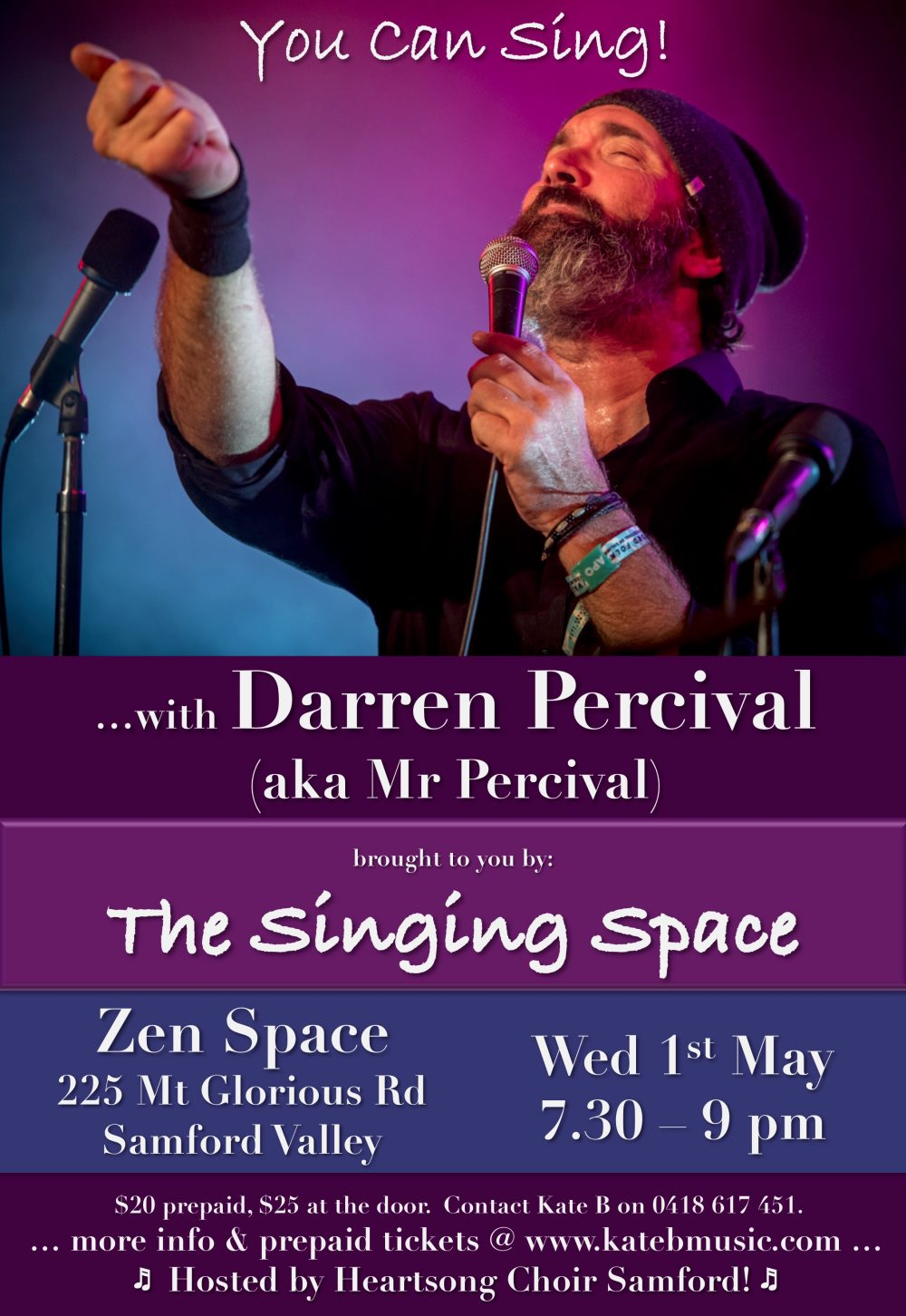 You Can Sing (Darren Percival) Poster