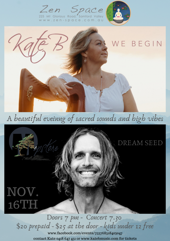 Kate B and Chris Mapstone in Concert Poster