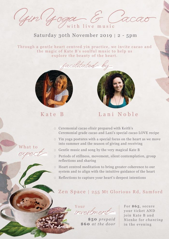 Yin Yoga and Cacao with Live Music