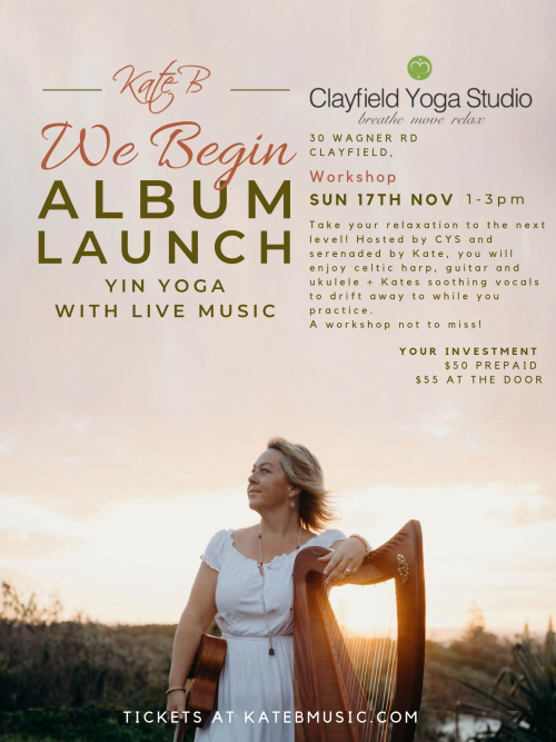 Clayfield Yin Yoga Workshop with Live Music Poster