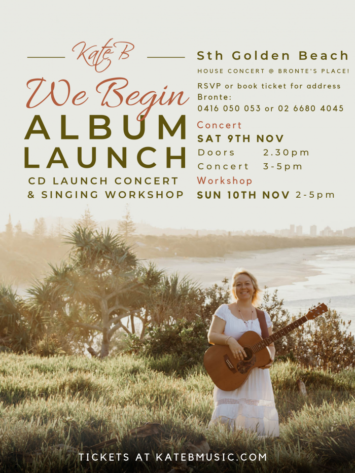 South Golden Beach Concert and Workshop Poster