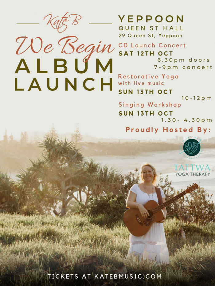 Kate B We Begin Album Launch - Yeppoon