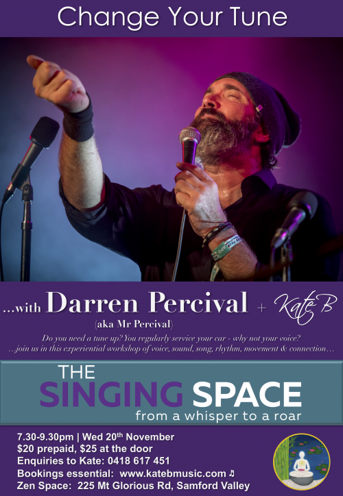 Change your Tune with Darren Percival Poster